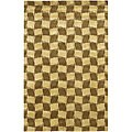 Artist's Loom Hand-knotted Contemporary Geometric Rug - 5' x 7'6