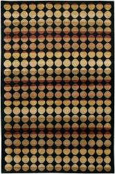 Artist's Loom Hand-knotted Contemporary Geometric Rug (5' x 7'6) - Thumbnail 1