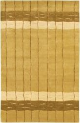 Artist's Loom Hand-knotted Contemporary Stripes Rug (5' x 7'6)
