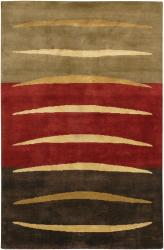 Artist's Loom Hand-knotted Contemporary Abstract Wool Rug (5'x7'6) - Thumbnail 2