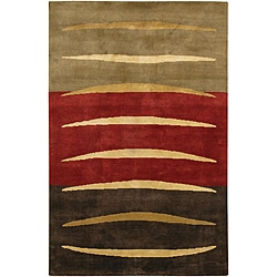Artist's Loom Hand-knotted Contemporary Abstract Wool Rug (5'x7'6) - 5' x 7'6 - Thumbnail 0