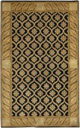 Artist's Loom Hand-knotted Transitional Floral Wool Rug (5'x7'6) - Thumbnail 2