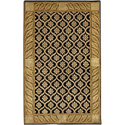 Artist's Loom Hand-knotted Transitional Floral Wool Rug (5'x7'6) - Thumbnail 0