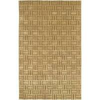Artist's Loom Hand-knotted Contemporary Geometric Wool Rug - 5' x 7'6
