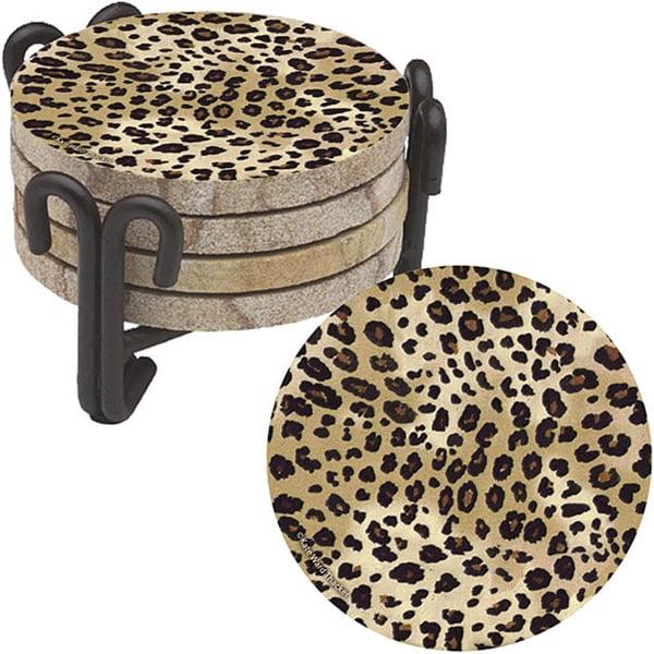 Thirstystone 'Leopard Print' Sandstone Coasters (Set of 4)