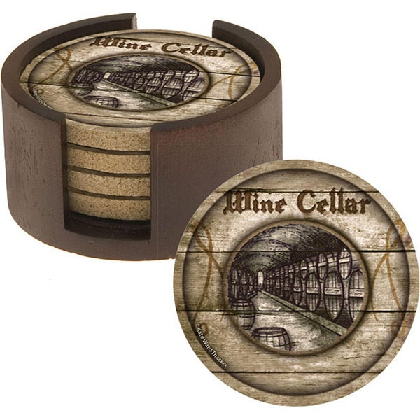 Thirstystone 'Wine Cellar' Sandstone Coasters (Set of 4)