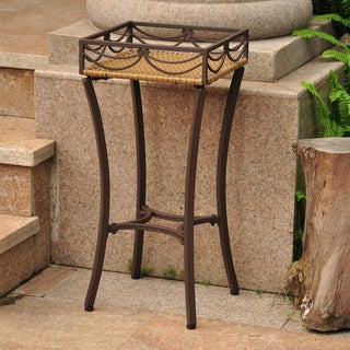International Caravan Valencia Resin Wicker Plant Stand