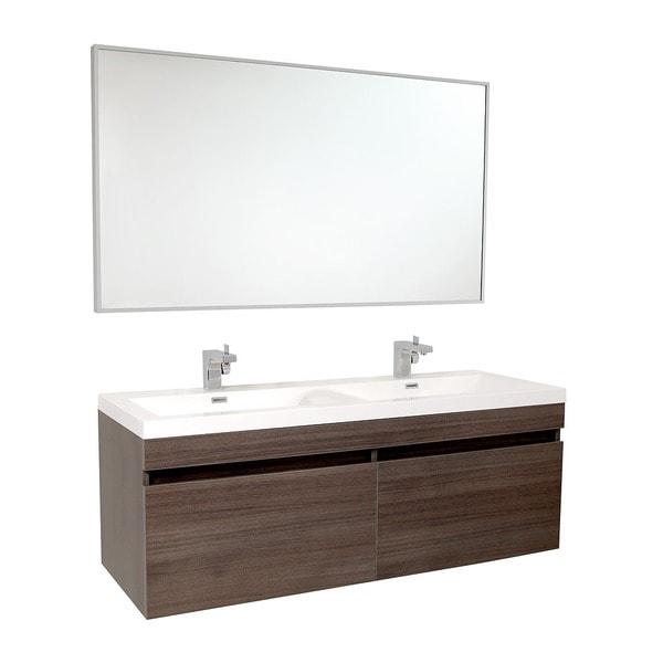 Shop Fresca Largo Gray Oak Double Bathroom Vanity Free