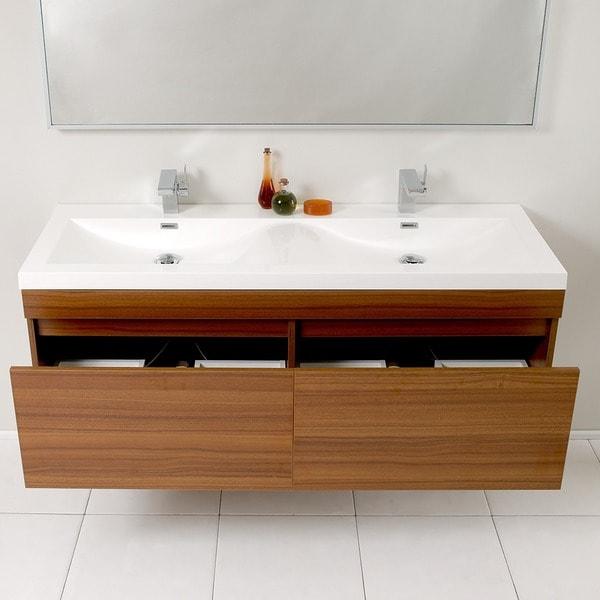 Fresca Largo Double Bathroom Vanity   Free Shipping Today   Overstock.com    13034125