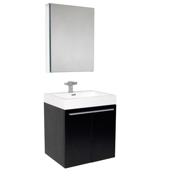 Fresca Alto Black Bathroom Vanity Set