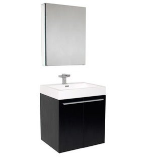 Fresca Alto Black Bathroom Vanity Set