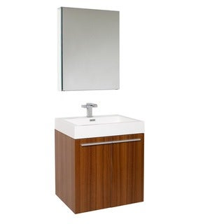 Fresca Alto Teak Bathroom Vanity Set