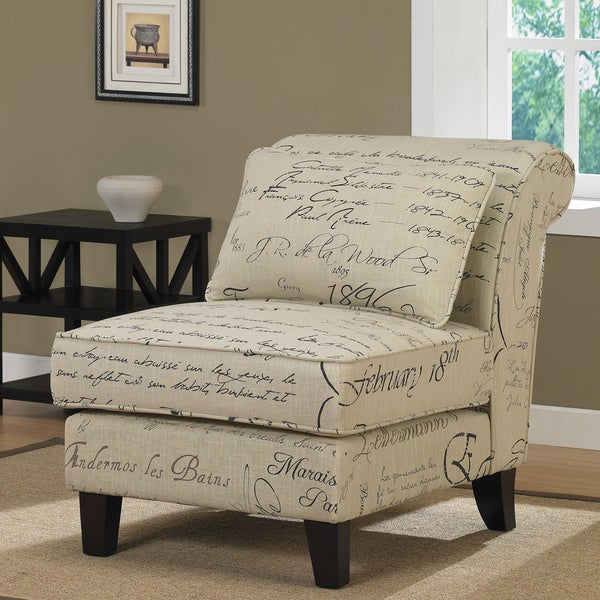 Signature Tan Linen Slipper Chair Free Shipping Today