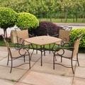 International Caravan Valencia 5-piece Outdoor Resin Wicker/ Steel Dining Set