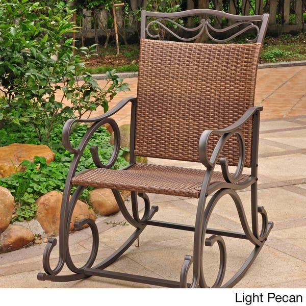 Tremendous Shop International Caravan Valencia Resin Wicker Rocking Gmtry Best Dining Table And Chair Ideas Images Gmtryco