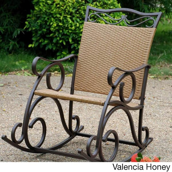 Magnificent Shop International Caravan Valencia Resin Wicker Rocking Gmtry Best Dining Table And Chair Ideas Images Gmtryco