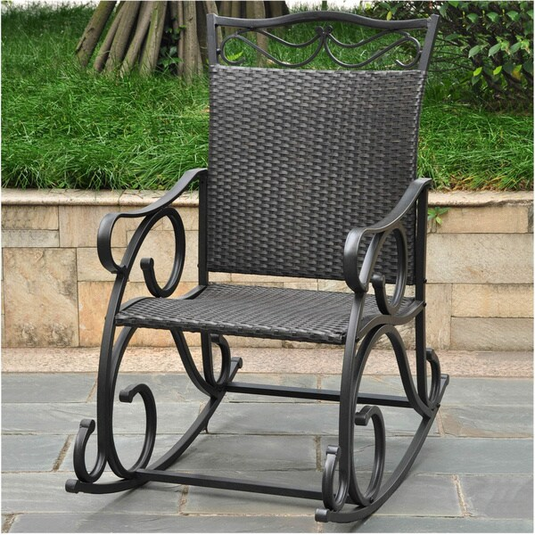 used wicker rocking chair for sale chairs indoor white international caravan resin steel frame