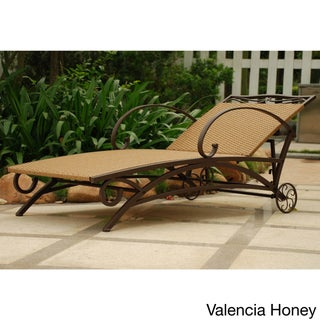 International Caravan Valencia Resin Wicker/ Steel Frame Multi-Position Chaise Lounge (4 options available)