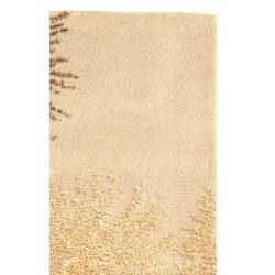 Safavieh Handmade Soho Burst Beige New Zealand Wool Runner (2'6 x 6') - Thumbnail 2