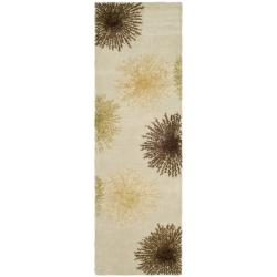 Safavieh Handmade Soho Burst Beige New Zealand Wool Runner (2'6 x 6')