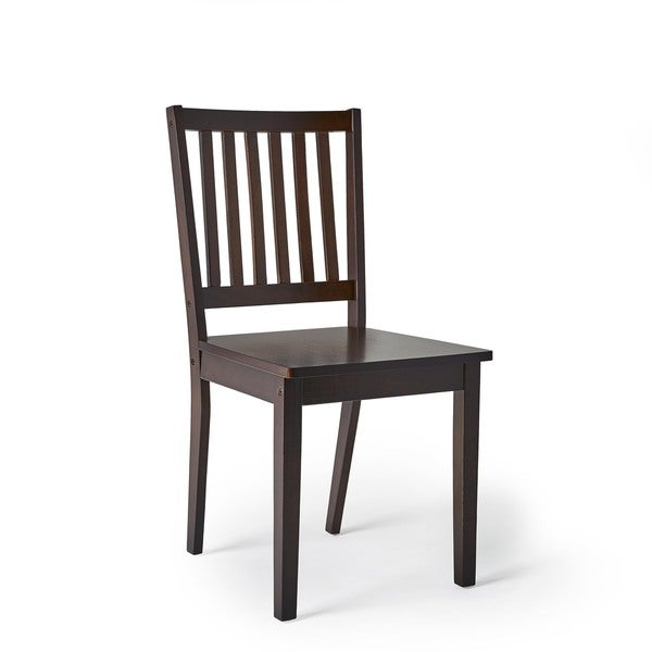 Awesome Simple Living Slat Espresso Rubberwood Dining Chairs (Set Of 4)   Free  Shipping Today   Overstock.com   13036454