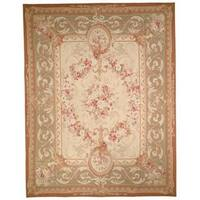 Safavieh Couture French Aubusson Hand Woven Flatweave Ivory/ Red Wool Area Rug (10' x 14')