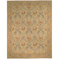 Handmade Safavieh Couture French Aubusson Flatweave Gold Wool Area Rug (China)