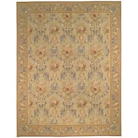 Safavieh Couture French Aubusson Hand Woven Flatweave Gold Wool Area Rug (12' x 18')