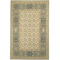 Handmade Safavieh Couture French Aubusson Flatweave Grey Wool Area Rug (China)