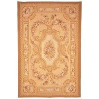 Safavieh Couture French Aubusson Hand Woven Flatweave Ivory/ Red Wool Area Rug (8' x 10')