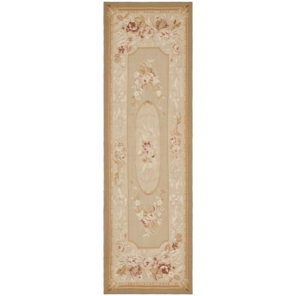 Safavieh Couture French Aubusson Hand Woven Flatweave Taupe/ Beige Wool Area Rug (6' x 9')