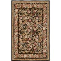 Safavieh Couture French Aubusson Hand Woven Flatweave Black/ Brown Wool Area Rug - 8' x 10'