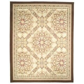 Hand-knotted French Aubusson Ivory Wool Rug (12' x 15') https://ak1.ostkcdn.com/images/products/5206556/P13036627.jpg?impolicy=medium