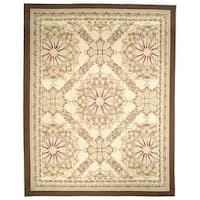 Safavieh Couture French Aubusson Hand Woven Flatweave Red/ Gold/ Green Wool Area Rug - 8' x 10'