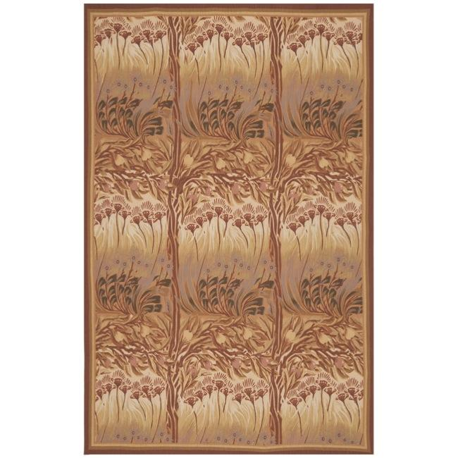 Hand-knotted French Aubusson Multicolor Wool Rug (6' x 9')