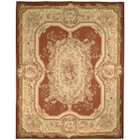 Safavieh Couture French Aubusson Hand Woven Flatweave Burgundy/ Ivory Wool Area Rug (12' x 18')