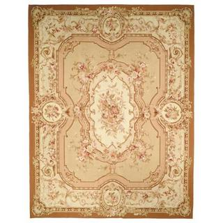 Safavieh Couture French Aubusson Hand Woven Flatweave Burgundy/ Ivory Wool Area Rug (8' x 10')
