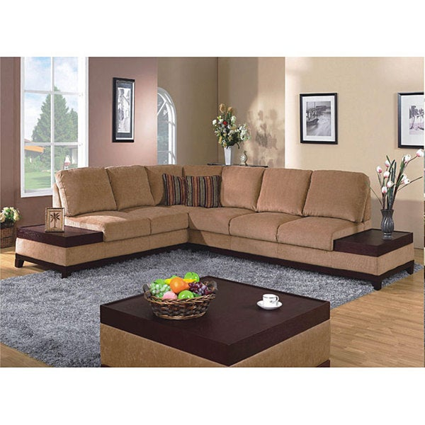 Furniture Of America Raul 3 Piece Sectional With End