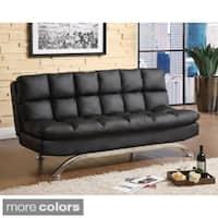 Furniture of America Pascoe Bicast Leather Sofa/ Futon