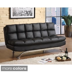 furniture of america pascoe bicast leather sofa  futon furniture of america futons for less   overstock    rh   overstock