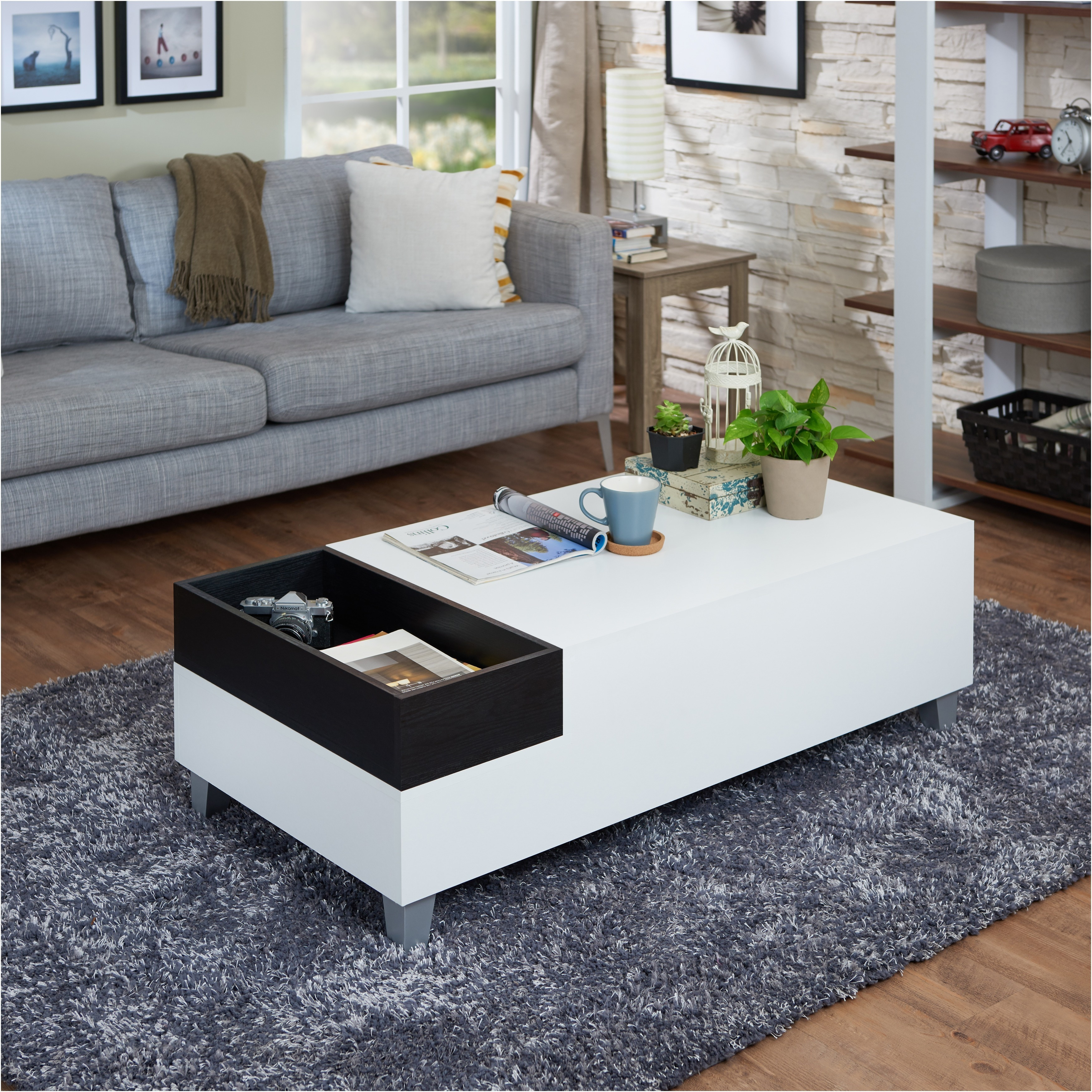 Overstock White Coffee Table
