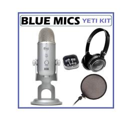 Blue Microphones Yeti USB Condenser Plug and Play Microphone with Accessory Kit