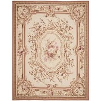 Safavieh Couture French Aubusson Hand Woven Flatweave Ivory Wool Area Rug (10' x 14')