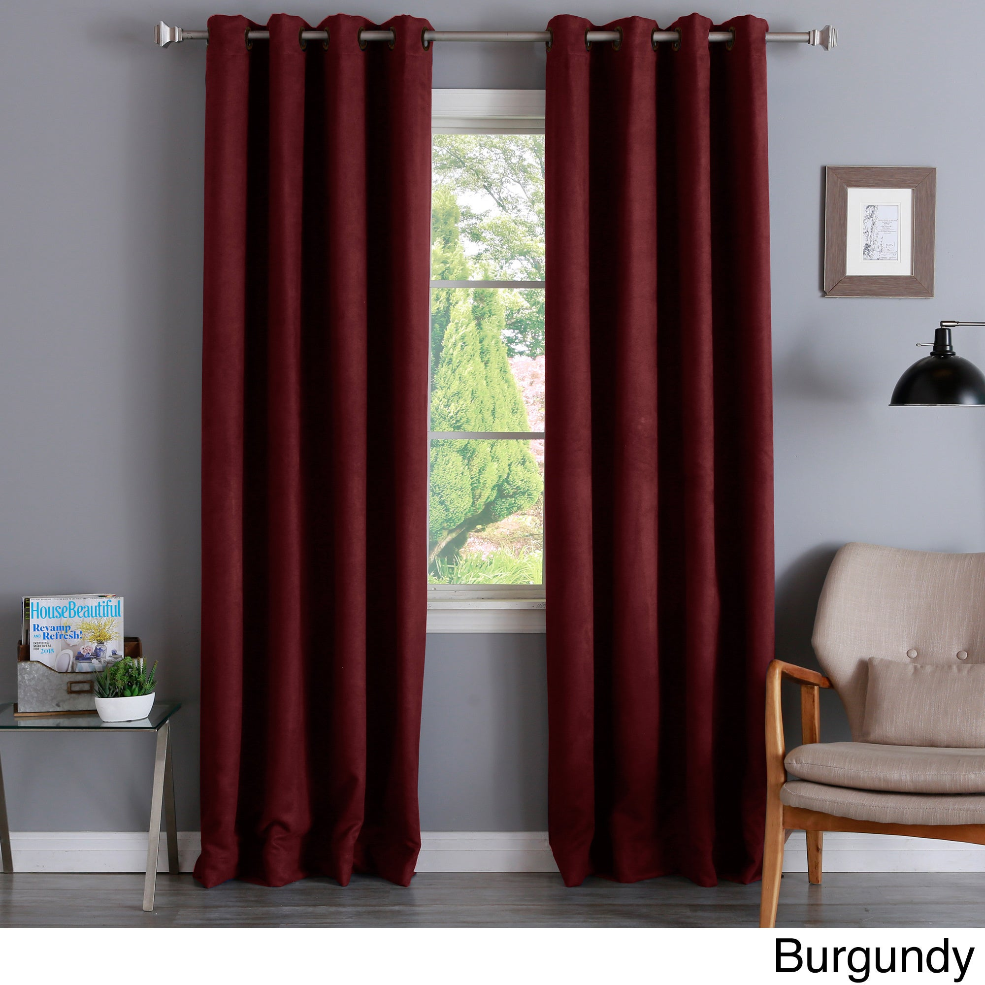 Aurora Home Faux Suede Grommet 84-inch Insulated Blackout...