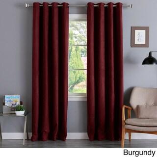 Aurora Home Faux Suede 84-inch Insulated Blackout Curtain Pair - 52 x 84 (Burgundy)