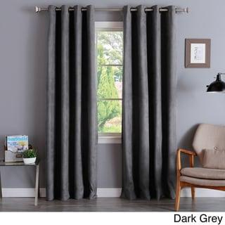 Aurora Home Faux Suede 84-inch Insulated Blackout Curtain Pair - 52 x 84 (Dark Grey)