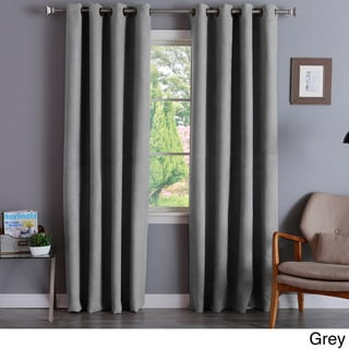 Aurora Home Faux Suede 84-inch Insulated Blackout Curtain Pair - 52 x 84 (Grey)