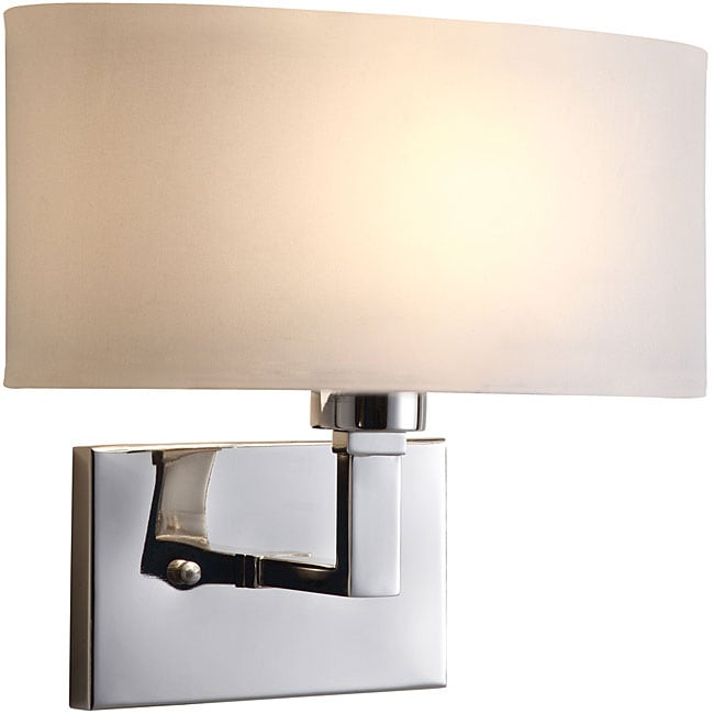 Geneva Polished Nickel Wall Sconce