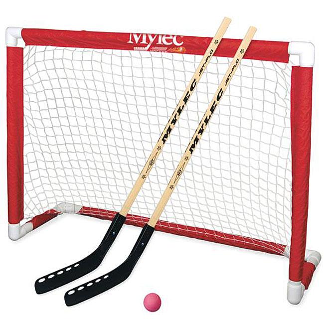 Mylec Red/White Plastic Deluxe Hockey Goal Set