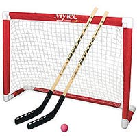 Mylec Red/White Plastic Deluxe Hockey Goal Set